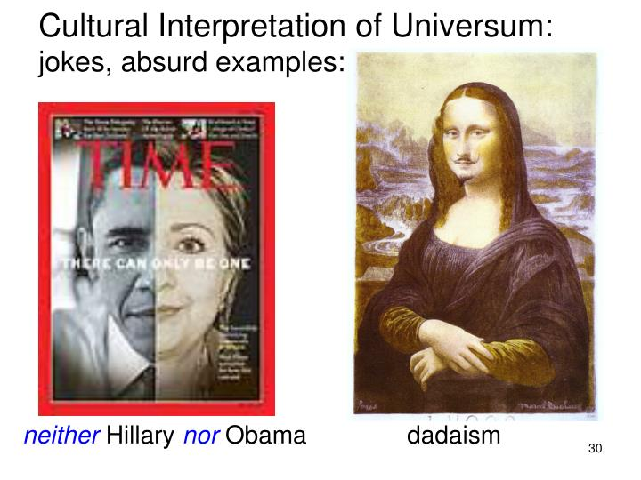Cultural Interpretation of Universum: