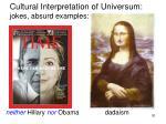 cultural interpretation of universum jokes absurd examples