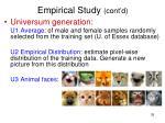 empirical study cont d