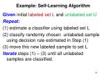 example self learning algorithm