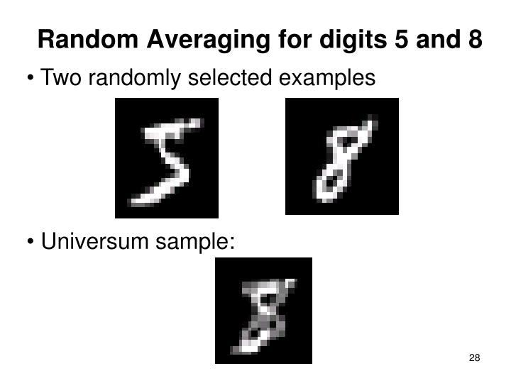 Random Averaging for digits 5 and 8