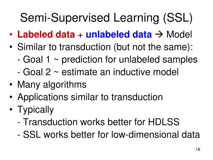 Semi-Supervised Learning (SSL)