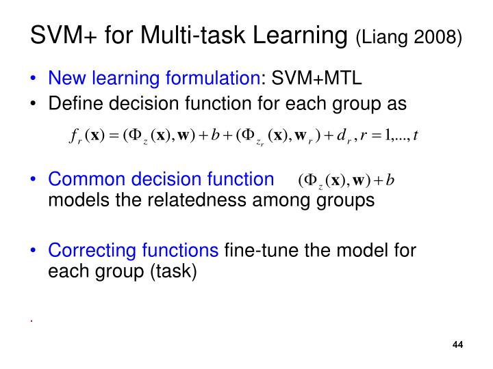 SVM+ for Multi-task Learning