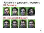 universum generation examples