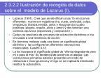 2 3 2 2 ilustraci n de recogida de datos sobre el modelo de lazarus i