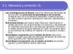 3 2 memoria y emoci n i