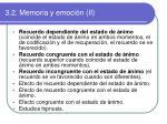 3 2 memoria y emoci n ii