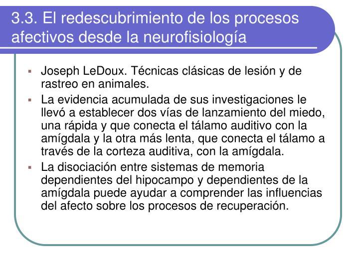 3.3. El redescubrimiento de los procesos afectivos desde la neurofisiología