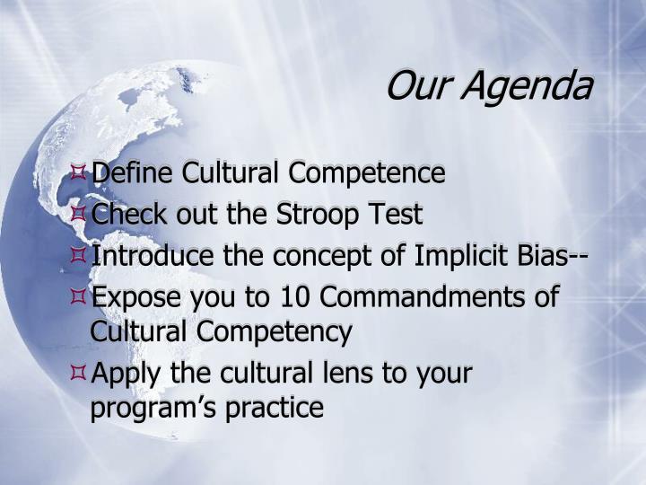 Our Agenda