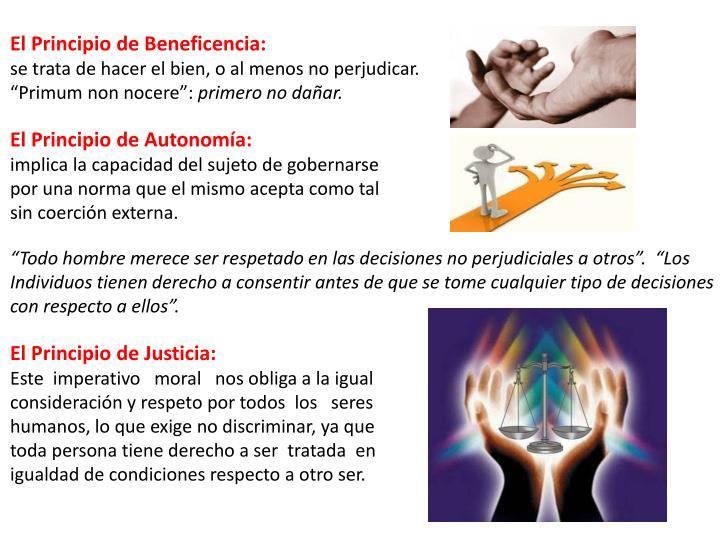 El Principio de Beneficencia: