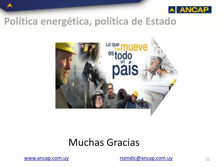 Política energética, política de Estado