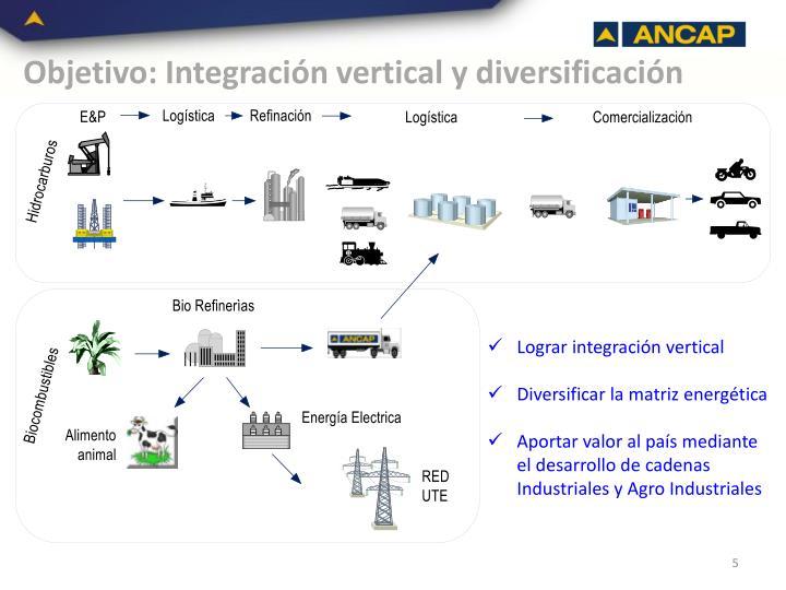 Objetivo: Integración vertical y diversificación