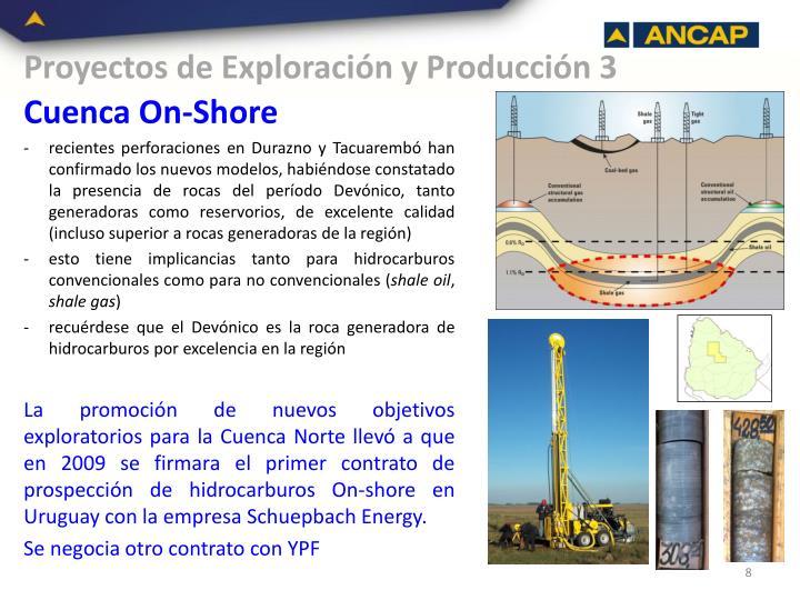 Proyectos de Exploración y Producción 3