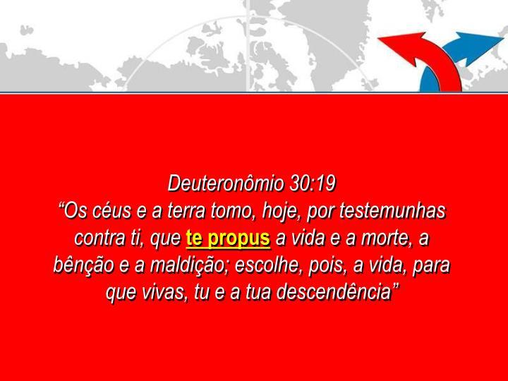 Deuteronômio 30:19