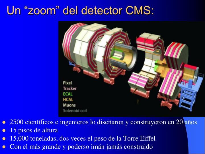 """Un """"zoom"""" del detector CMS:"""