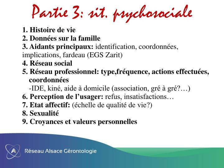 Partie 3: sit. psychosociale