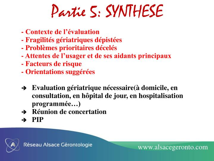 Partie 5: SYNTHESE