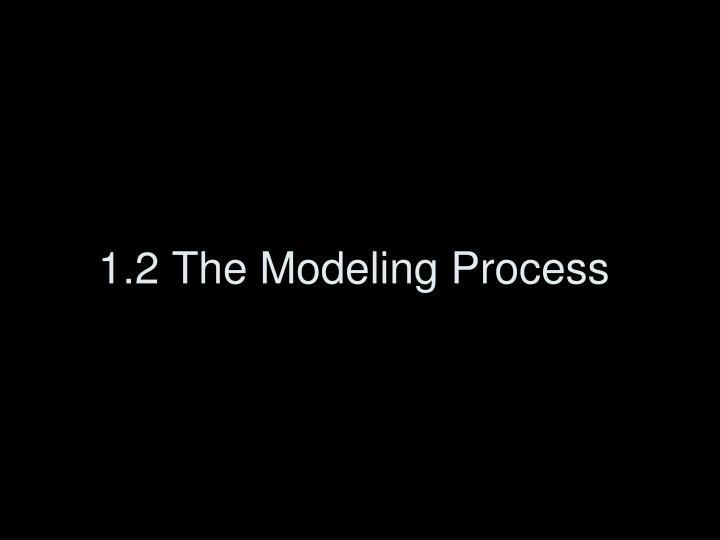 1.2 The Modeling Process