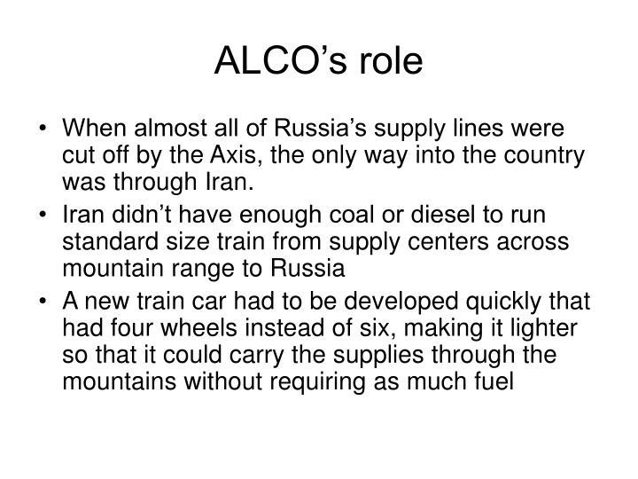 ALCO's role