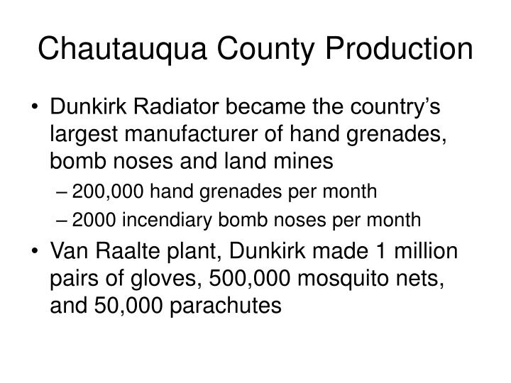 Chautauqua County Production