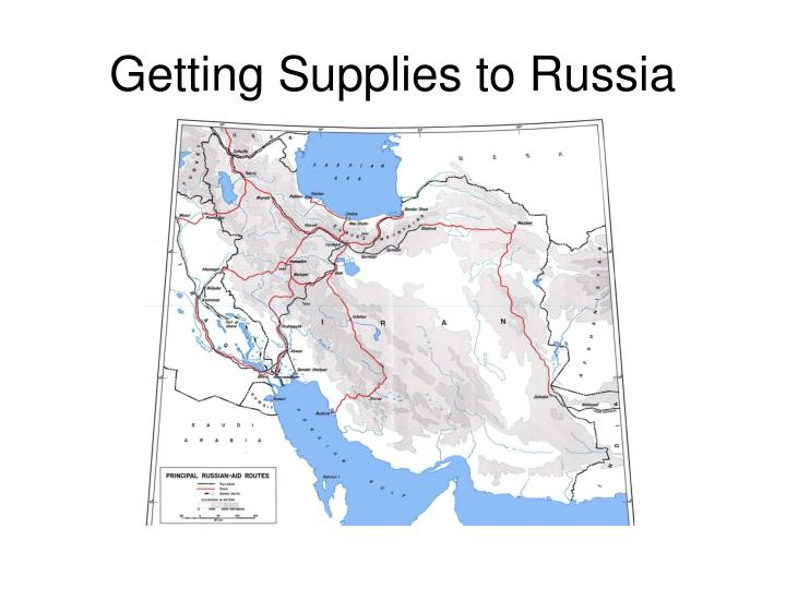 Getting Supplies to Russia