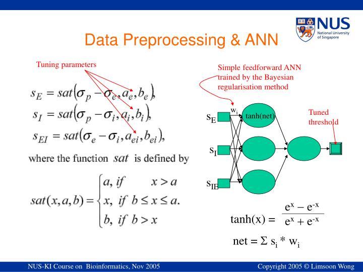 Simple feedforward ANN