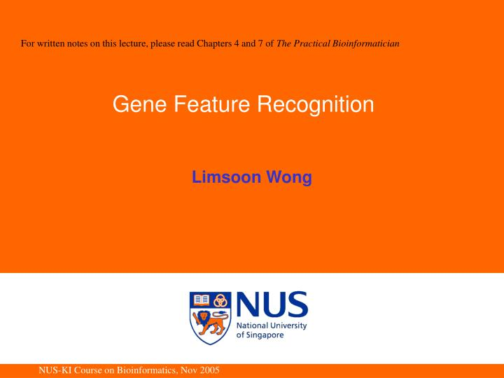 Gene feature recognition