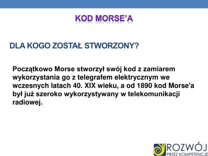 Kod Morse'a