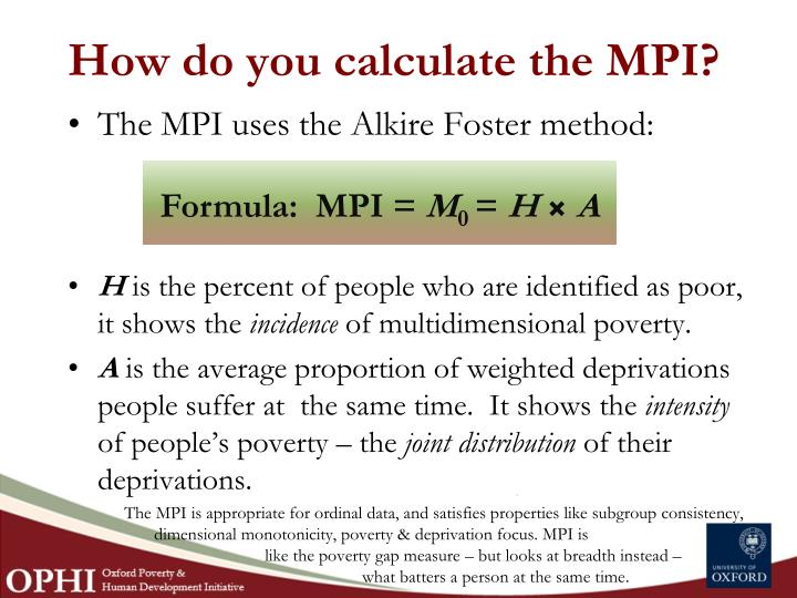 How do you calculate the MPI?