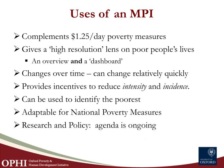 Uses of an MPI