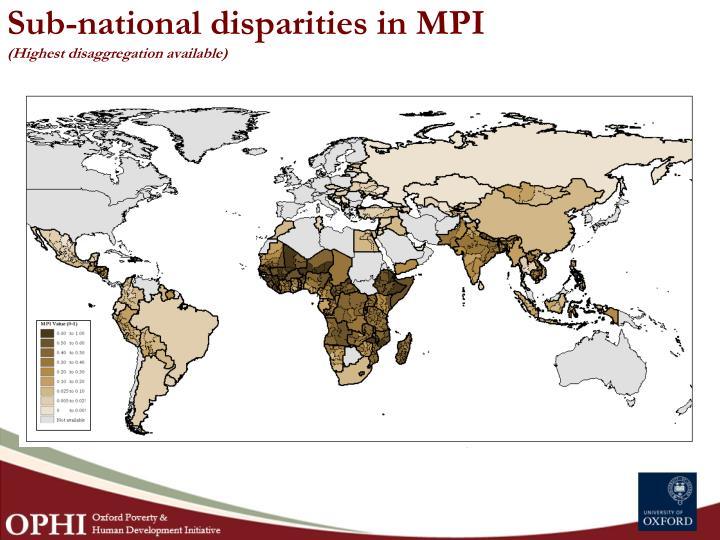 Sub-national disparities in MPI