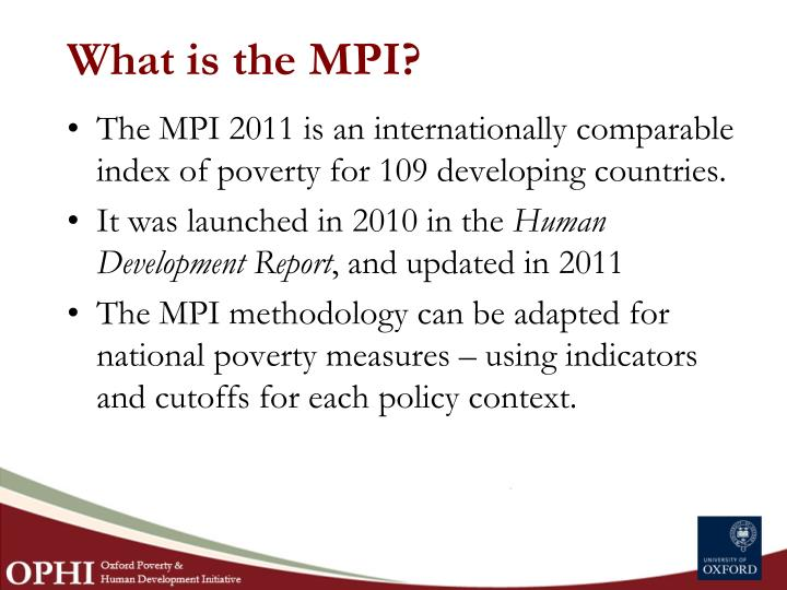What is the MPI?