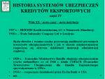 historia system w ubezpiecze kredyt w eksportowych cz iv