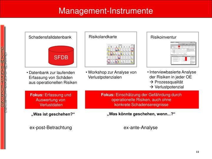 Management-Instrumente