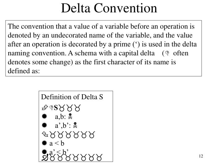 Delta Convention