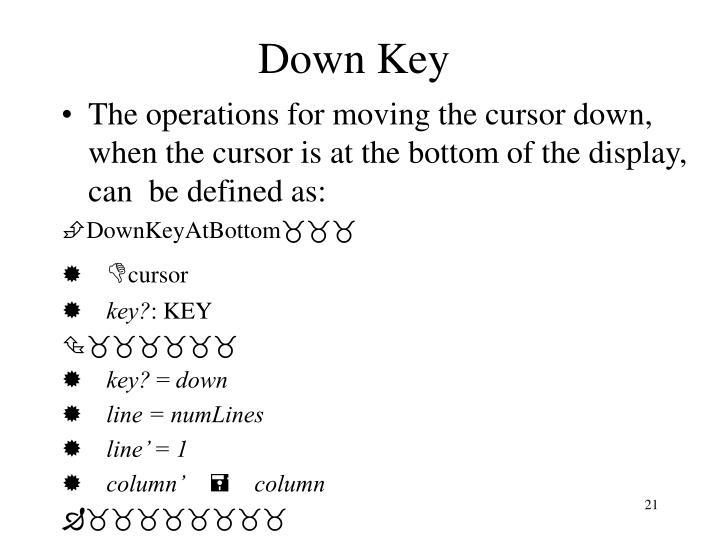 Down Key