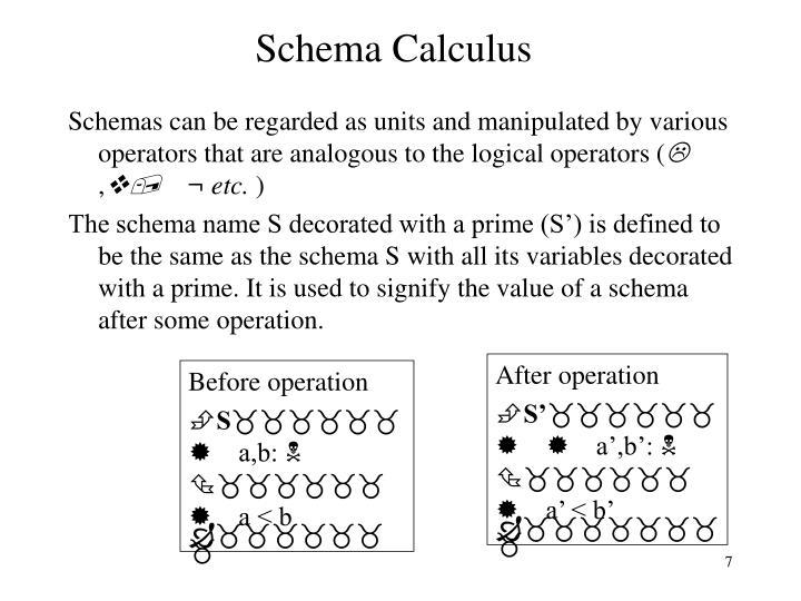 Schema Calculus