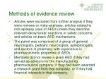 methods of evidence review1