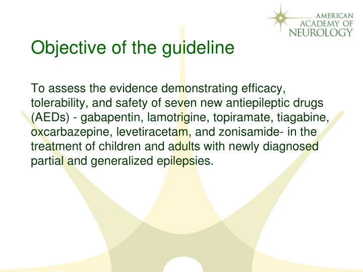 Objective of the guideline