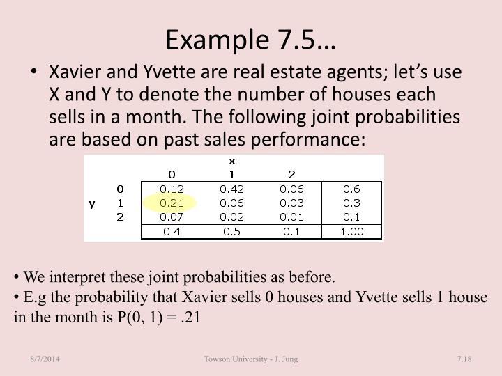 Example 7.5…