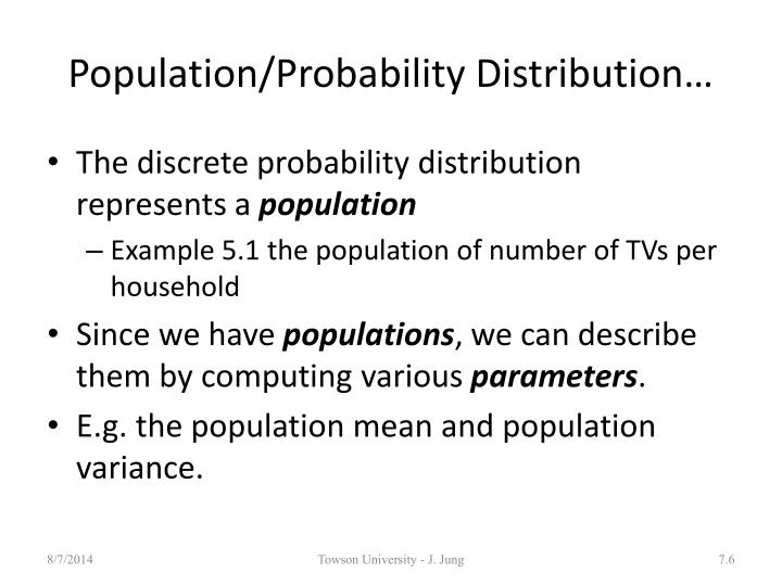 Population/Probability Distribution…
