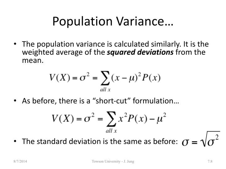 Population Variance…