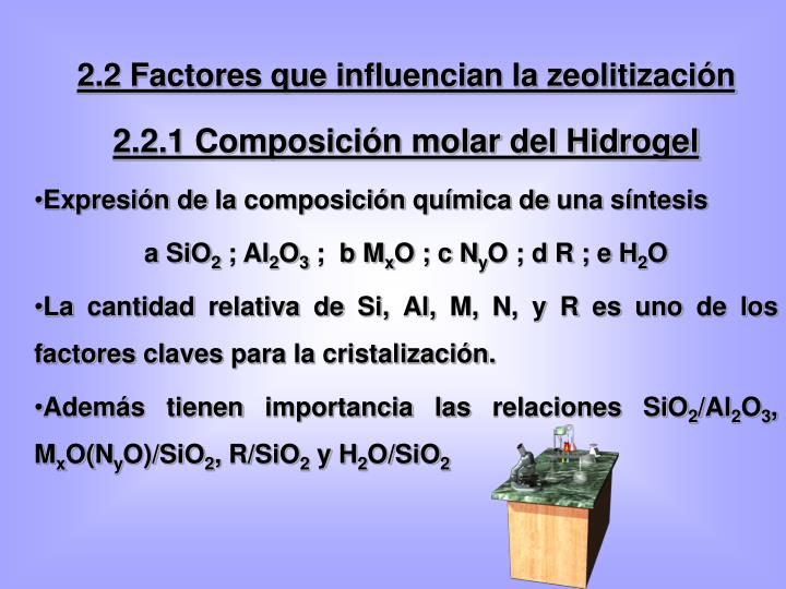 2.2 Factores que influencian la zeolitización