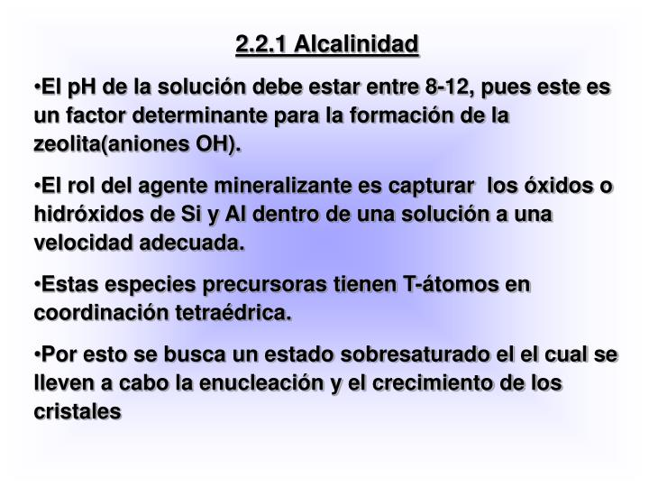 2.2.1 Alcalinidad