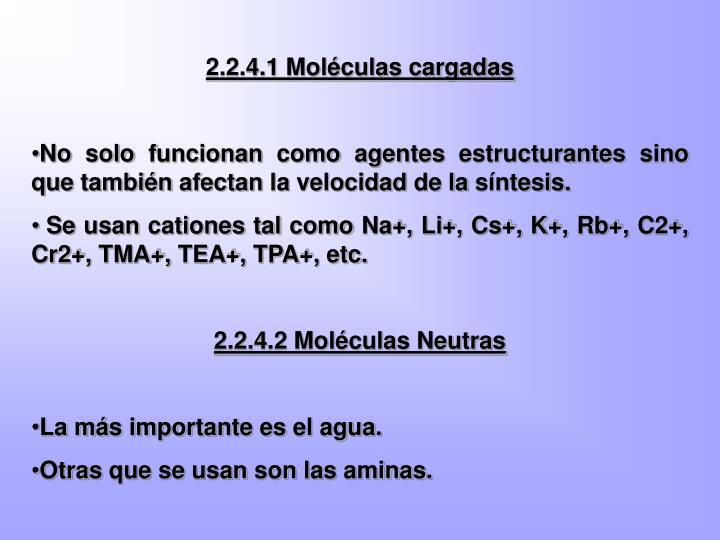 2.2.4.1 Moléculas cargadas