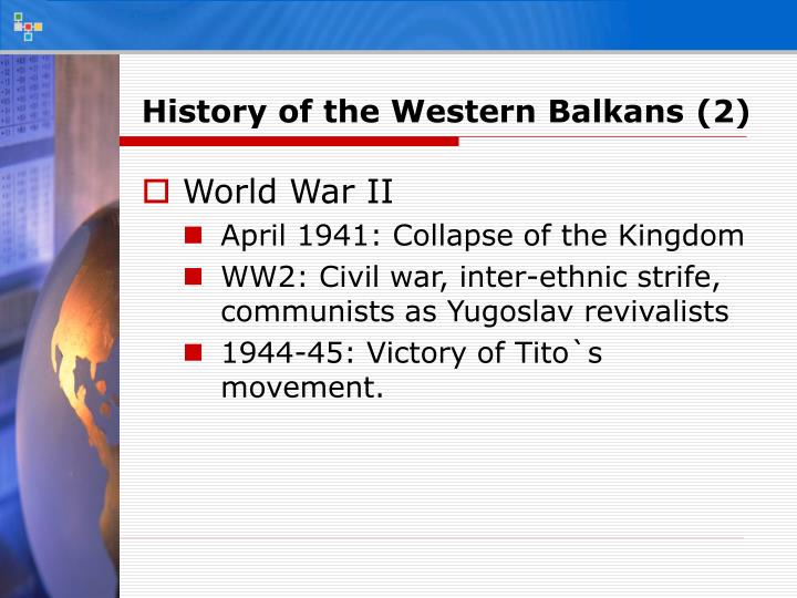 History of the Western Balkans