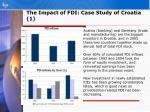 the impact of fdi case study of croatia 1