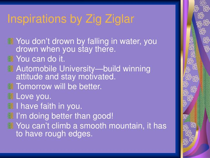 Inspirations by Zig Ziglar