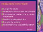 rebounding from failure