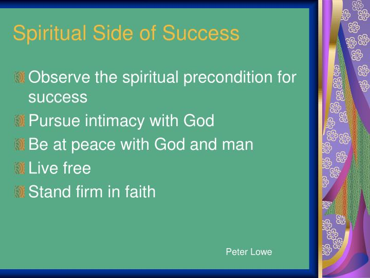 Spiritual Side of Success